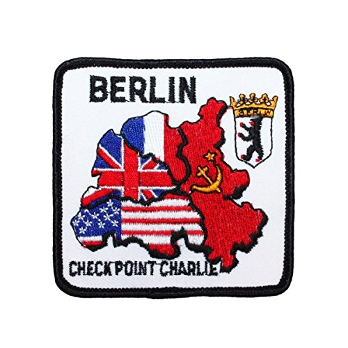 Berlin Wall ''Checkpoint Charlie'' Patch Cold War Site Souvenir Sew-On Applique by Mia_you