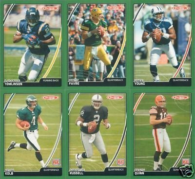 2007 Topps Total Football Master Series Complete Mint Set Including 4 Complete Insert Sets; 2006 Award Winners (20 Cards), Total Topps (20 Cards), Total Production (10 Cards) and Team Checklist (Topps Total Football)
