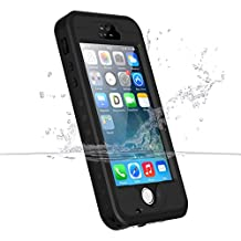 iPhone 5s/SE/5 Waterproof Case, iThrough Underwater, Dust Proof, Snow Proof, Shock Proof Case, Heavy Duty Protective Carrying Cover Case includes a 3.5mm AUX Cable for iPhone 5/5s/SE