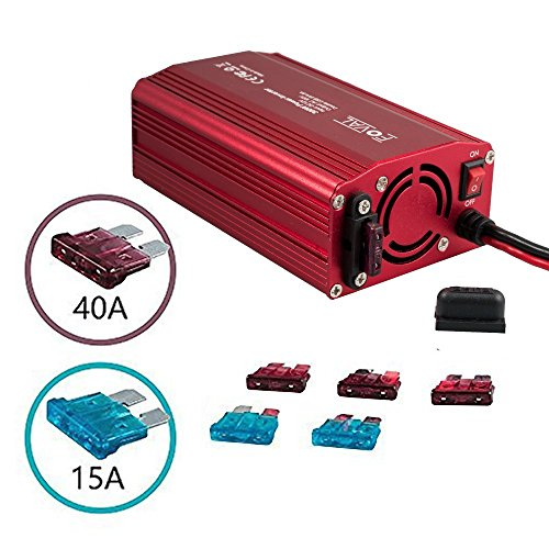 Foval Power Inverter 300W DC 12V to 110V AC Converter with 4.8A Dual USB Car Charger(Red) by FOVAL (Image #6)