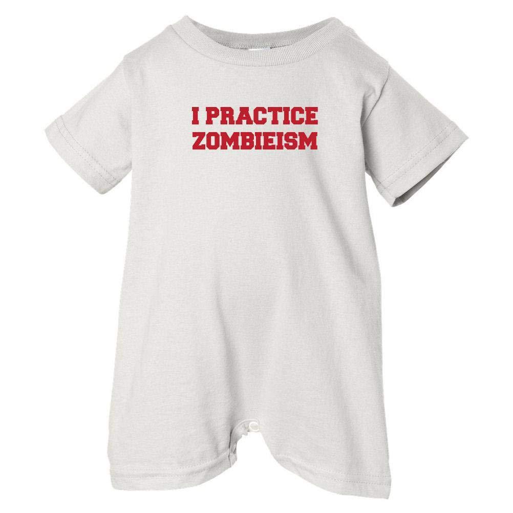 Zombie Underground Unisex Baby I Practice Zombieism T-Shirt Romper