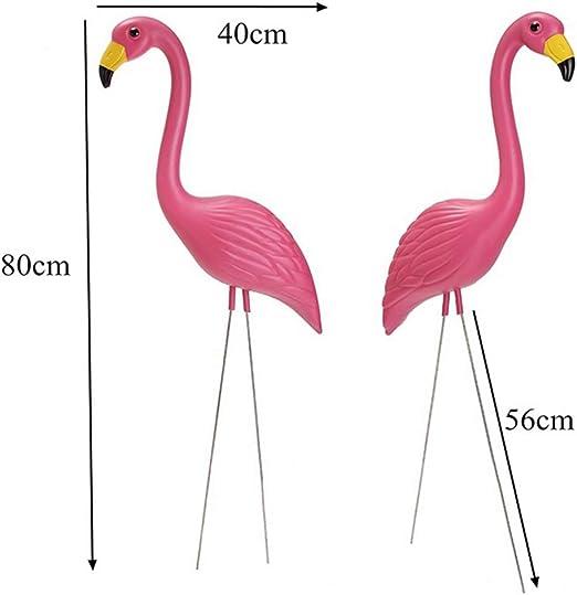 1/par de p/ájaro figura decorativa para jard/ín estanque decoraci/ón del partido Decoraciones de jard/ín Vivid rosa Flamingo