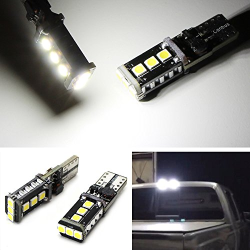 iJDMTOY (2) Xenon White High Power 9-SMD 906 912 920 921 T15 LED Replacement Bulbs For Chevrolet Ford GMC Honda Nissan Toyota Truck 3rd Brake Lamp Cargo - 2007 Titan Nissan Replacement
