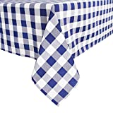 PALADY Pure Color 100% Cotton Heavyweight Tablecloth for Kitchen and Home, Indoor and Outdoor Use Rectangle/Oblong Easy Care Washable Tablecloth Decorative Table Cloth (Grey, 60' x 120')