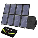 X-DRAGON Solar Charger, 40W Solar Panel Charger (5V USB with SolarIQ + 18V DC) Water Resistant Laptop Charger Compatible with Cellphone, Notebook, Tablet, iPhone, Samsung, Android, Camping, Outdoor