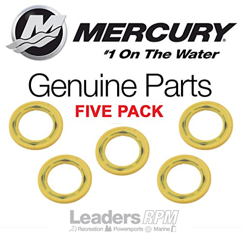 Mercury Marine/Mercruiser OEM Gearcase Drain Plug Seal Washer 5 PACK 26-830749 Mercury Gear Case