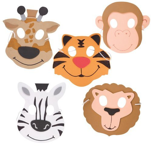 Rhode Island Novelty Zoo Animal Foam Masks (1 dz) ()