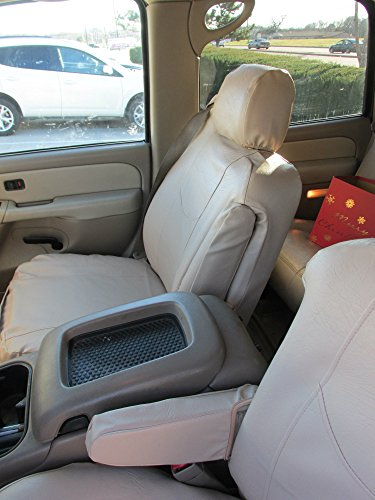 - Durafit Seat Covers, C2211 Beige Leatherette Seat Covers for 2003-2007 Chevy Tahoe, Suburban and GMC Yukon Front Captain Chairs with Side Impact Airbags and Drivers Electric Controls.