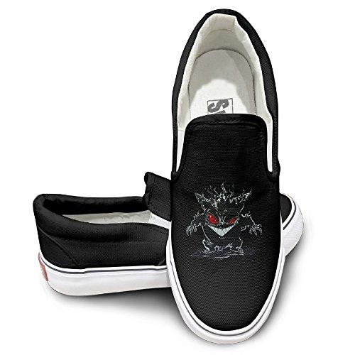 ewied-unisex-classic-cool-gengar-soul-slip-on-shoes-black-size40