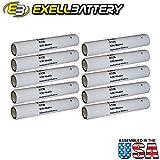 10pc Exell A136 Alkaline 9V Battery 6LR50, EN136A, PC136A