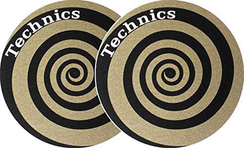 Slipmat Technics espiral oro (2 unidades): Amazon.es: Instrumentos ...