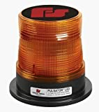 Federal Signal 212650-02SB Pulsator LED Beacon, Class 2, Permanent Mount with Tall Amber Dome