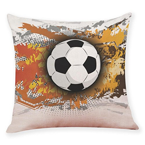 Price comparison product image Shybuy Funny Soccer Design Throw Pillow Case Cushion Cover Personalized Home Office Decorative Square 18 X 18 Inches (F, 45 45cm)