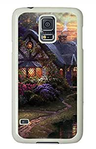Garden Cottage PC White Hard Case Cover Skin For Samsung Galaxy S5 I9600