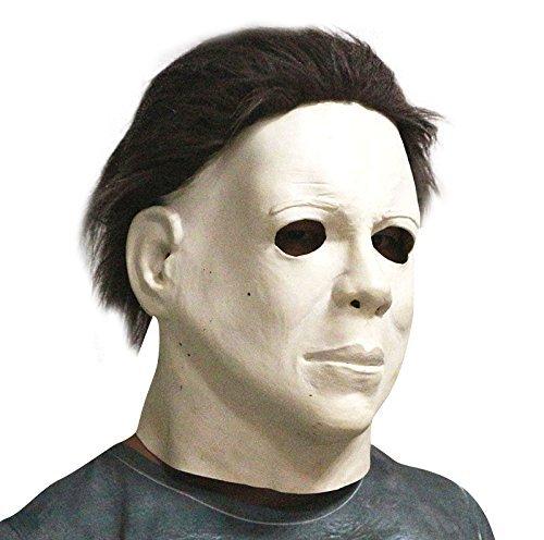 MASHGN Michael Myers Máscara De Horror Cabeza Completa De Lujo De Látex De Caucho con Pelo Disfraz De Halloween Máscara De Halloween Látex Horror Máscara ...