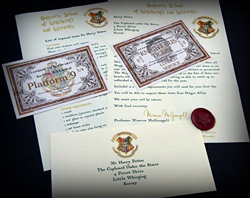 Harry Potter School Acceptance Letter Gift Pack Personalized with Any Name and Address (Harry Potter Hogwarts School)