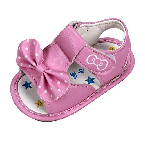 pour 0-3 ans Bébé, Amlaiworld Bowknot sandales Chaussures semelle souple (16/2-3 ans, Rose)