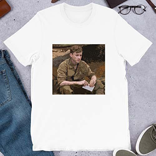 Joe Mazzello The Pacific Celebrity Portrait Hollywood Actor Cinema Film Graphic Gift for Men Women Girls Unisex T-Shirt