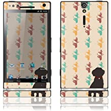 Sony Xperia S Decal Phone Skin Decorative Sticker w/ Free Matching Wallpaper - Dog Decal Phone Skin Decorative Sticker w/ Fire Hydrants