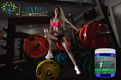 Dr's Elite X-treme Sports Nutrition Preworkout Powders For Men And Women - Make Gains Faster - Explosive Workouts - Sports Nutrition Supplement With Creatine - 300 grams - 30 servings