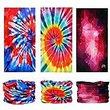 KALILY 9PCS Headband Bandana - Versatile Tye Dye