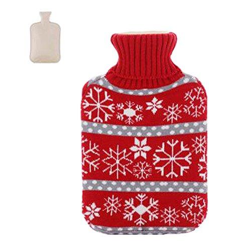 2L Nette Wärmflasche Wasserbeutel-Wasserinjektionshandwärmetasche Schneeflocke v14PkJpuf