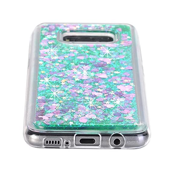 Galaxy S8 Case, VPR Sakura Liquid Quicksand Moving Stars Bling Glitter Floating Dynamic Flowing Love Heart Clear Soft TPU Protective Cover for Samsung Galaxy S8 6 Compatible Model: Samsung Galaxy S8. Material: High quality polycarbonate plastic and quicksand. The case is transparent with liquid inside,which is fashionable ,popular and interesting.