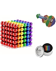M-agnetic Balls 3mm, 216 Pieces M-agnets Balls Building Game Building Blocks Toys, Colorful Strong Rare Earth Beads for Teens and Adults Stress Relief