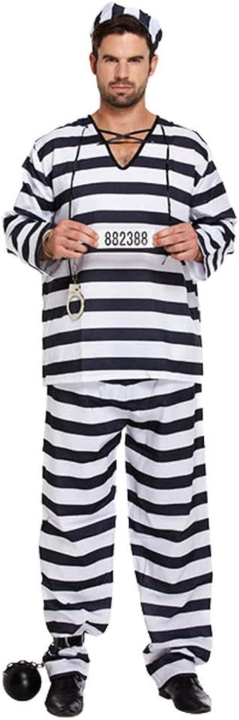 WIDMANN Disfraz Camisa de Fuerza, Disfraz Adulto Detenuto Pazzo * 01841 Bianco M/L: Amazon.es: Ropa y accesorios