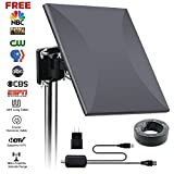 digital antenna 150 mile range - HDTV Antenna 160 Miles Amplified Digital Outdoor Indoor Signal Reception with Amplifier Booster 360 Degree Reception for FM/VHF/UHF, 32.8FT Long Coaxial Cable Weatherproof Lightning Protection