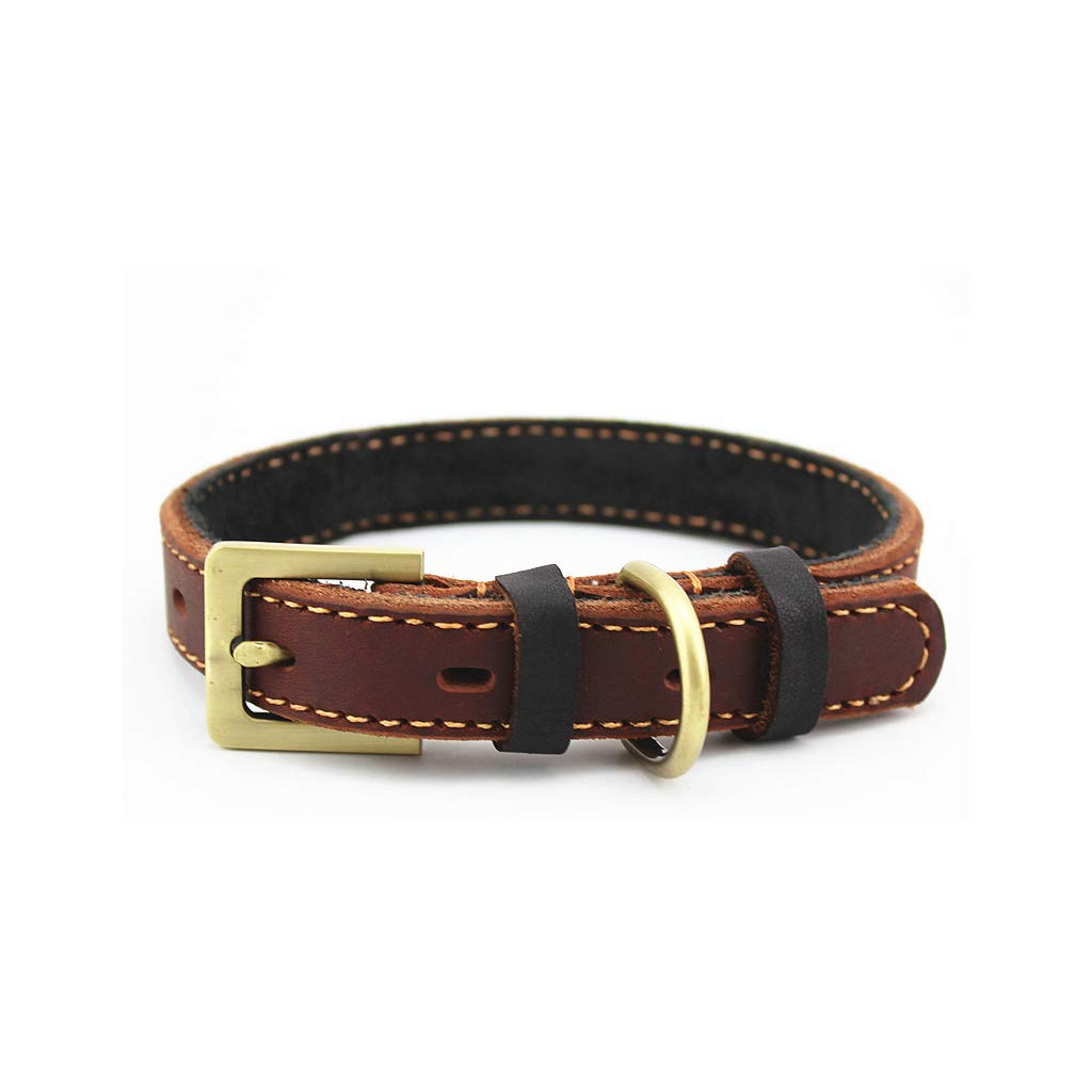 L Pet Collar Neck Ring Complex Bronze Buckle not Easy Rust Anti-Corrosion wear-Resistant Huskies, etc. (Size   L)