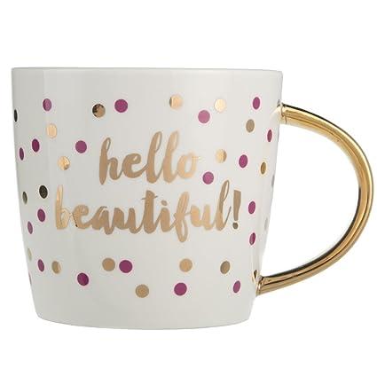 Popular Amazon.com: Slant Collection 14 Oz Ceramic Coffee Mug - Hello  XR56
