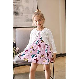 zhuannian little girls long sleeve lace bolero cardigan shrug
