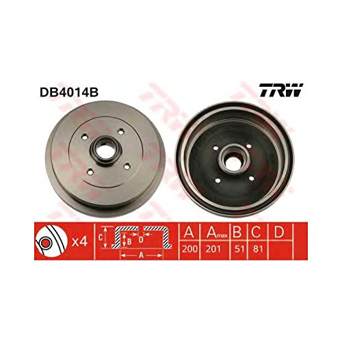 TRW DB4014B Brake Drums: