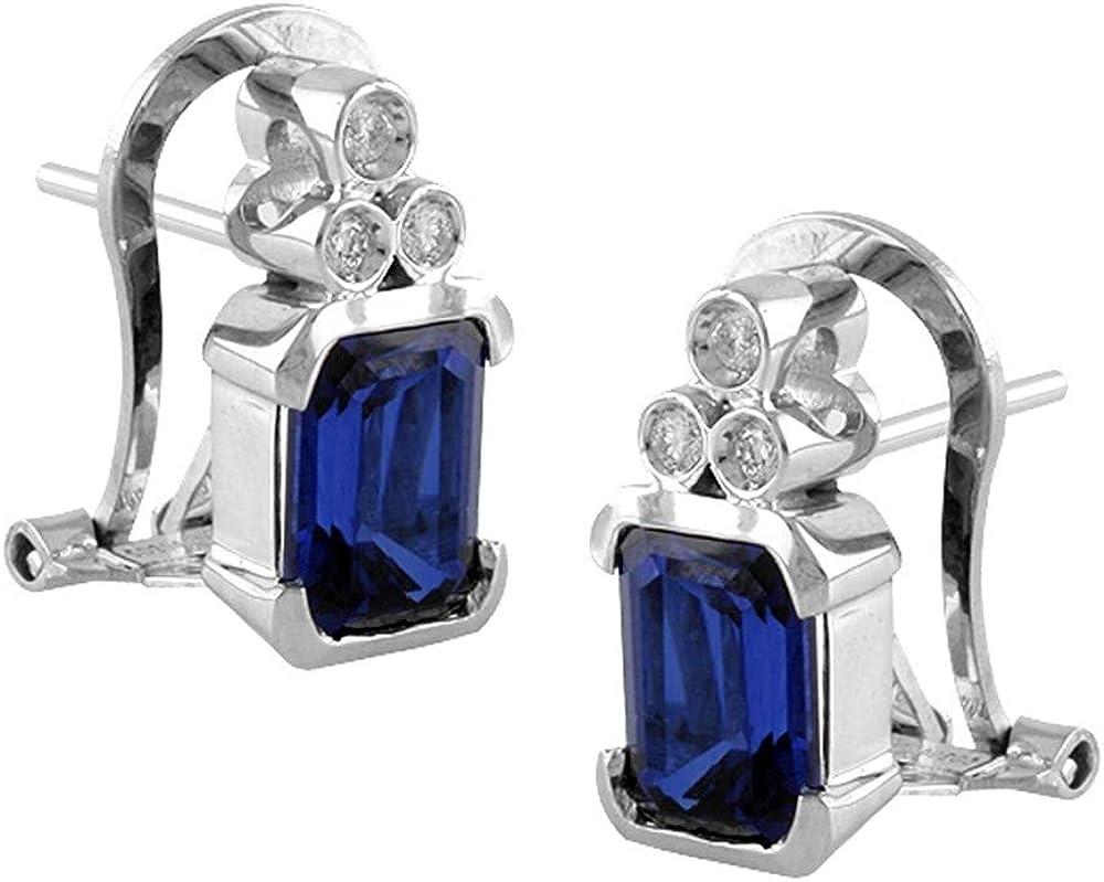 Pendientes Oro Blanco 18k modelo Buganvilla (6 diamantes brillantes 0,12cts.)