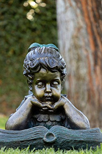 Alpine Girl Laying Down Reading Book Statue