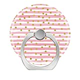 360°Rotation Grip Mobile Phone Finger Ring Holder for All Smartphone and Tablets with Car Mount Stand Pink Confetti