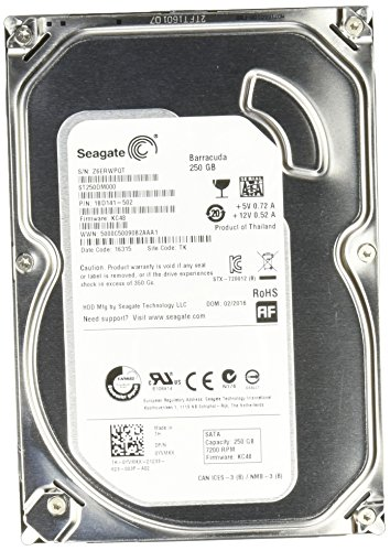 Seagate 250GB Desktop HDD SATA 6Gb/s 16MB Cache 3.5-Inch Internal Bare Drive (ST250DM000)