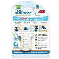 TubShroom TSWHT454 The Revolutionary Tub Drain Protector Hair Ca