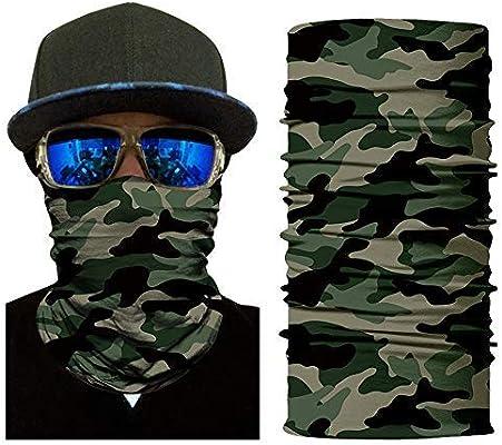 3//4 Pack Biker Neck Gaiter Tube Bandana Face Cover Scarf Head Balaclava Fishing