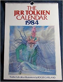 The Jrr Tolkien Calendar 1984 Amazoncouk Roger Garland