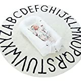 Finebaby 26 Letters Playmat Baby Crawling Mat Early Educational Carpet Large Round Floor Rug Diameter 47.2''/120cm Thickness 0.2''/0.5cm