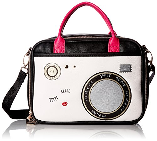 Betsey Johnson Lunch Tote Camera Chow Bella, Black