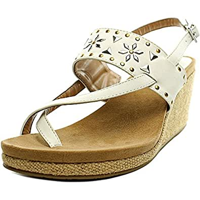 Style Co Womens Jazzmin Open Toe Casual Platform Sandals White Size 95