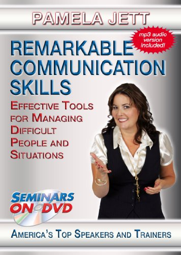Remarkable Communication Skills: Effective Tools for Managing Difficult People and Situations - Seminars On Demand Personal and Professional Development Training Video - Speaker Pamela Jett - Includes Streaming Video + DVD + Streaming Audio + MP3 Audio (Customer Service Training Videos)