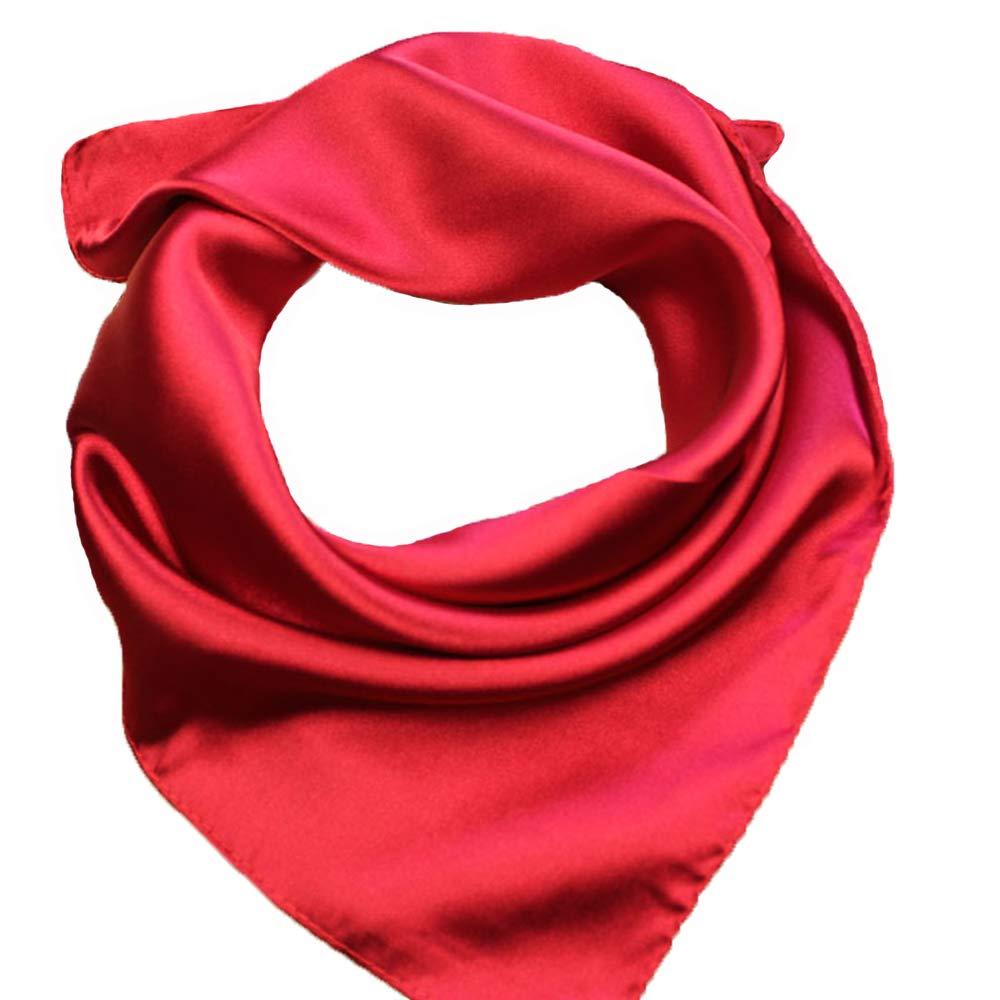 RongShi Seide Square Schal Damenmode Schals Leichte Kleine Einfarbig 22 In