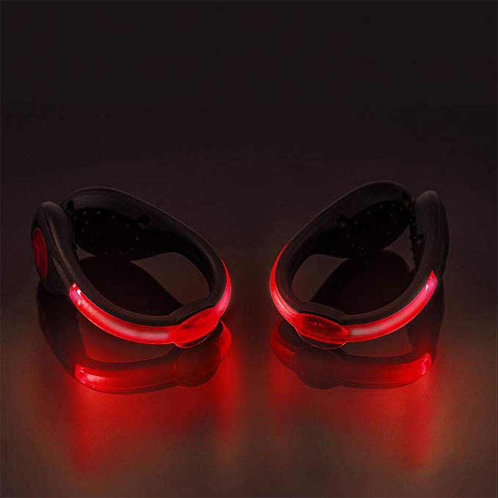 XUBA LED Shoe Clamp Lamp USB-Charged Outdoor Sports Running Walking Cycling Safety Flash Lamp