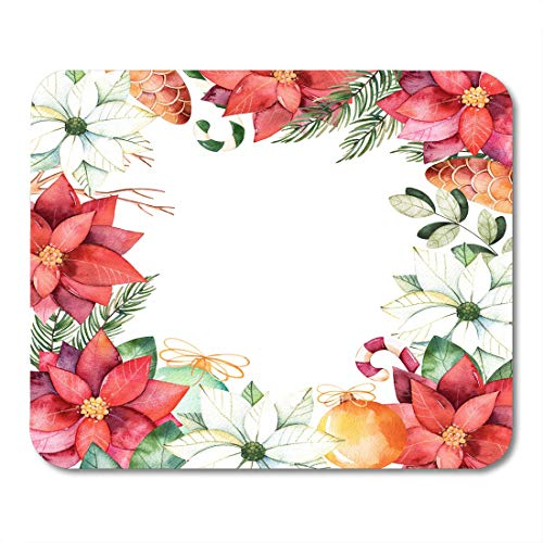 Nakamela Mouse Pads Beautiful Watercolor Border with