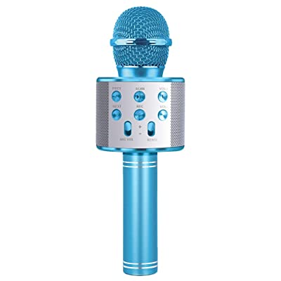 LITTLEFUN Gift for 4-12 Year Old Girls,Karaoke Microphone Toy for 4-12 Year Old Boy Girl Kids Bluetooth Microphone Birthday Gift Age 3-12 Boys Girls Kids Child Birthday Present Age 3-12: Toys & Games