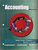 img - for Study Guide Chapters 1-13 for Accounting Fifth Edition by Horngren book / textbook / text book
